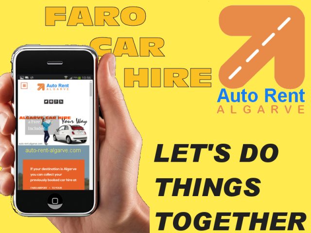 faro car hire smartphone mobile booking